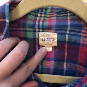 J. Crew plaid button up